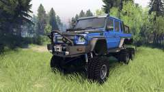 Mercedes-Benz G65 AMG 6x6 Final blue pearl for Spin Tires