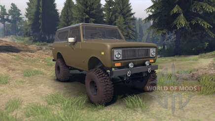 International Scout II 1977 drab green for Spin Tires