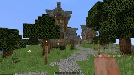 Old village in medieval style for Minecraft