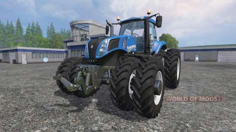 New Holland T8.320 row crop duals for Farming Simulator 2015