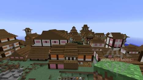 Japanese Village for Minecraft