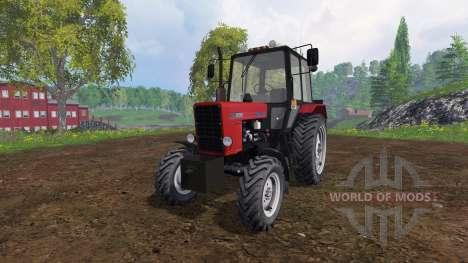 MTZ-82.1 Belarus v2.0 red for Farming Simulator 2015