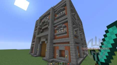 005 Cubic town house for Minecraft