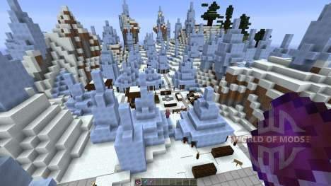 Icecube Village for Minecraft