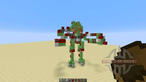 Atlas Mech Suit with Missile Launcher for Minecraft