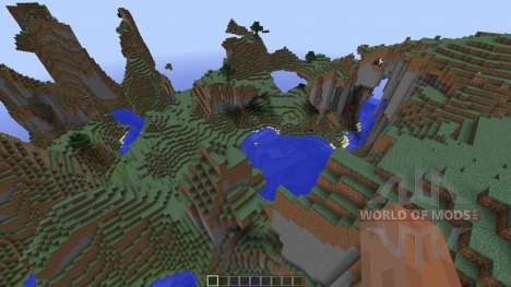 Mountain map for Minecraft