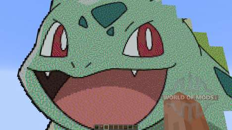 Giant Bulbasaur pixelart for Minecraft