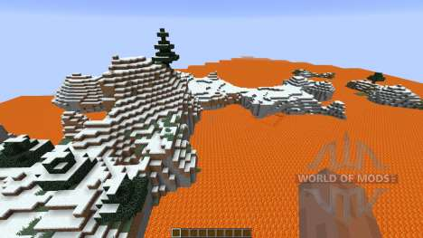 Lava island surival for Minecraft