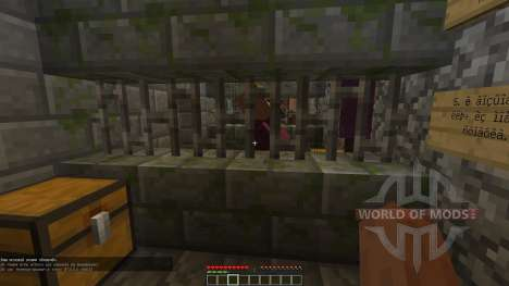The catacombs in the basement of the prison for Minecraft