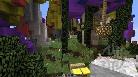 Mushroom sky island for Minecraft