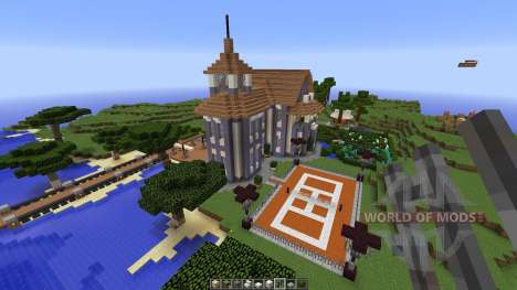 Contemporary colonial mansion for Minecraft