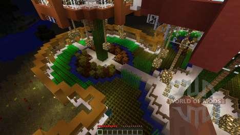 Epic Farm Base Treehouse for Minecraft