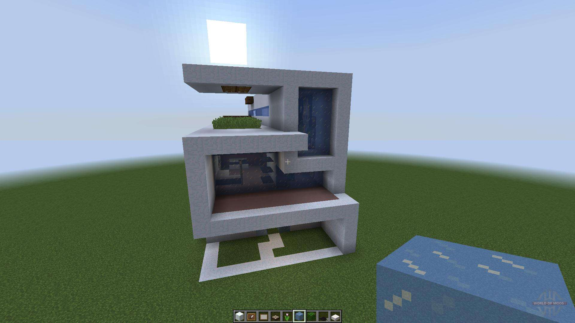 Minisize modern house 1 8 1 8 8 for minecraft for Modernes haus minecraft