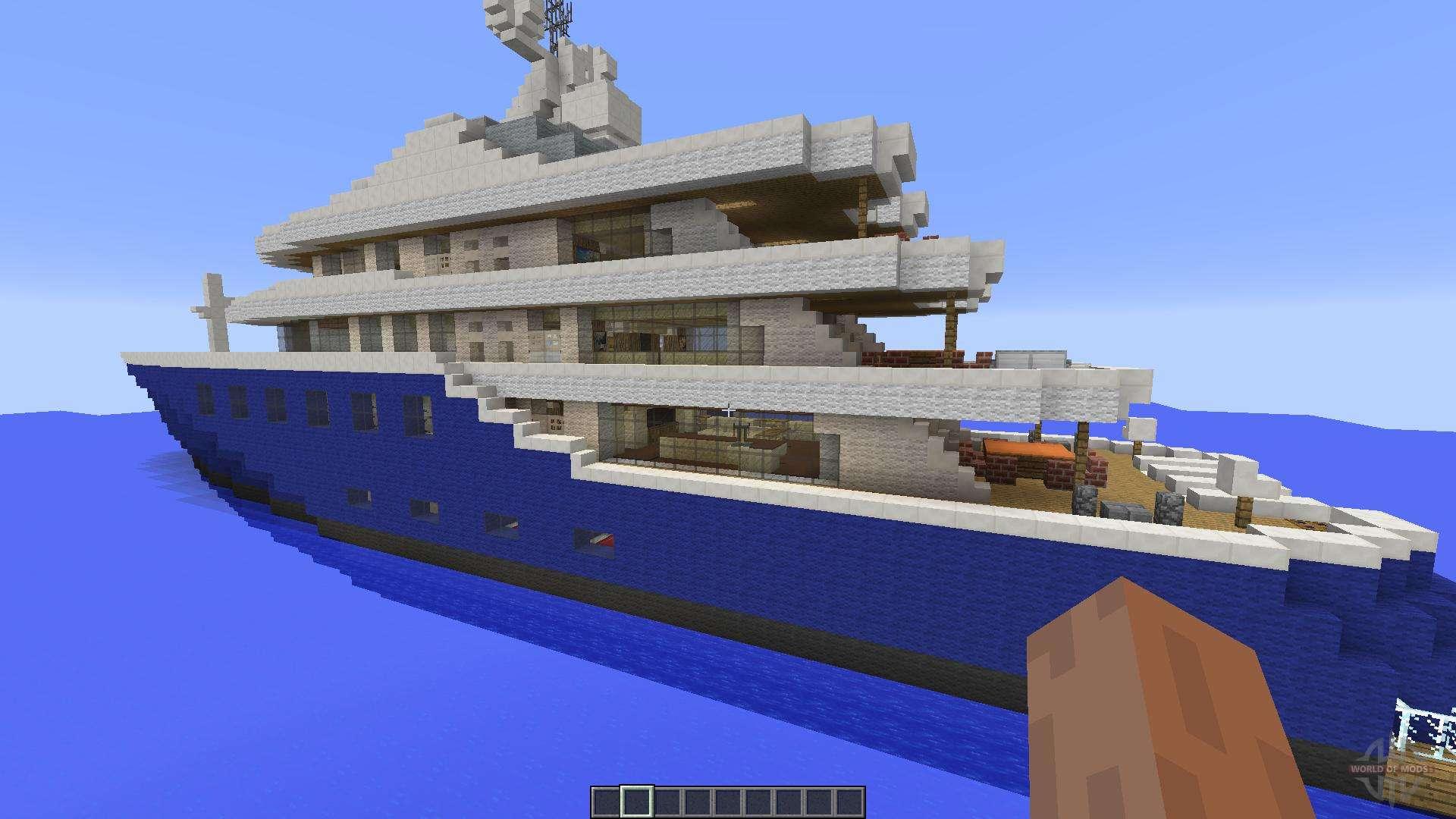 Майнкрафт карта яхта