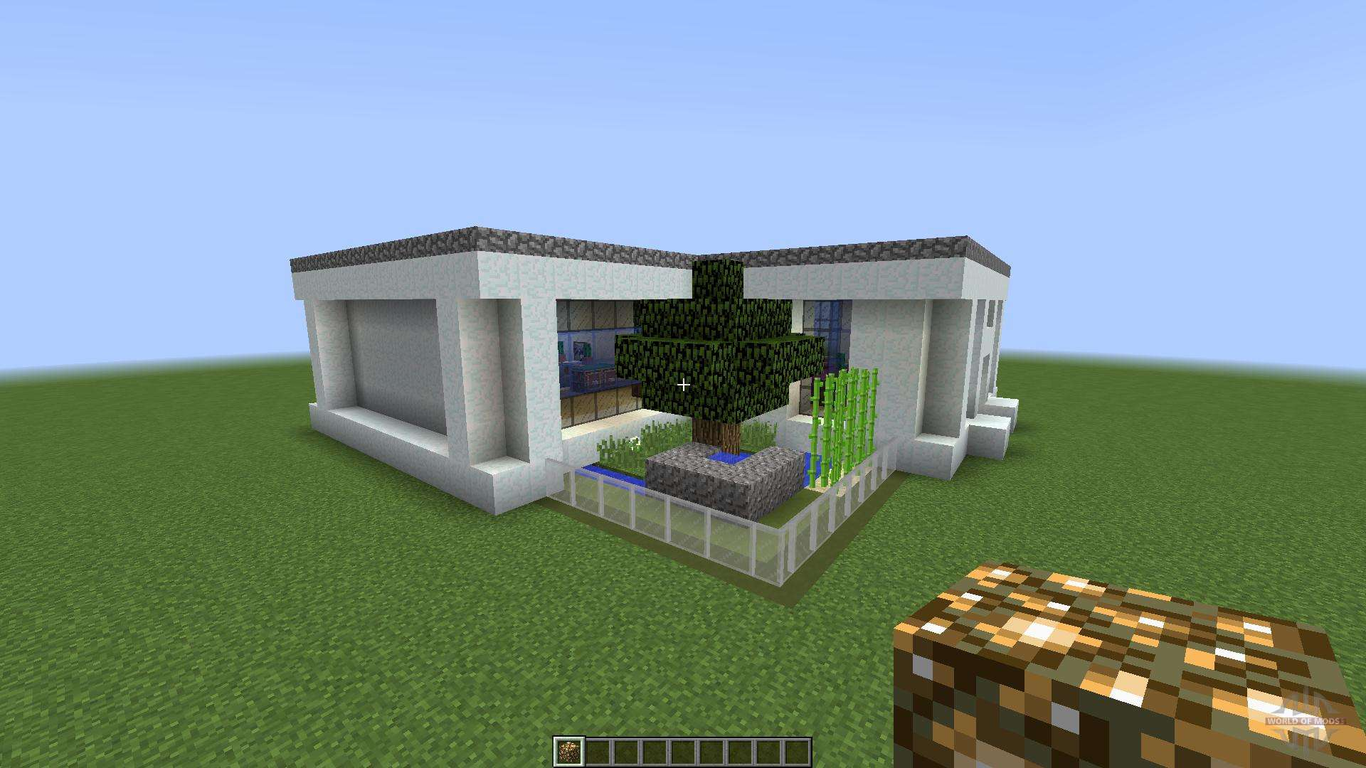 Modern house 3 the cabin 1 8 1 8 8 for minecraft for Minecraft modern house download 1 8