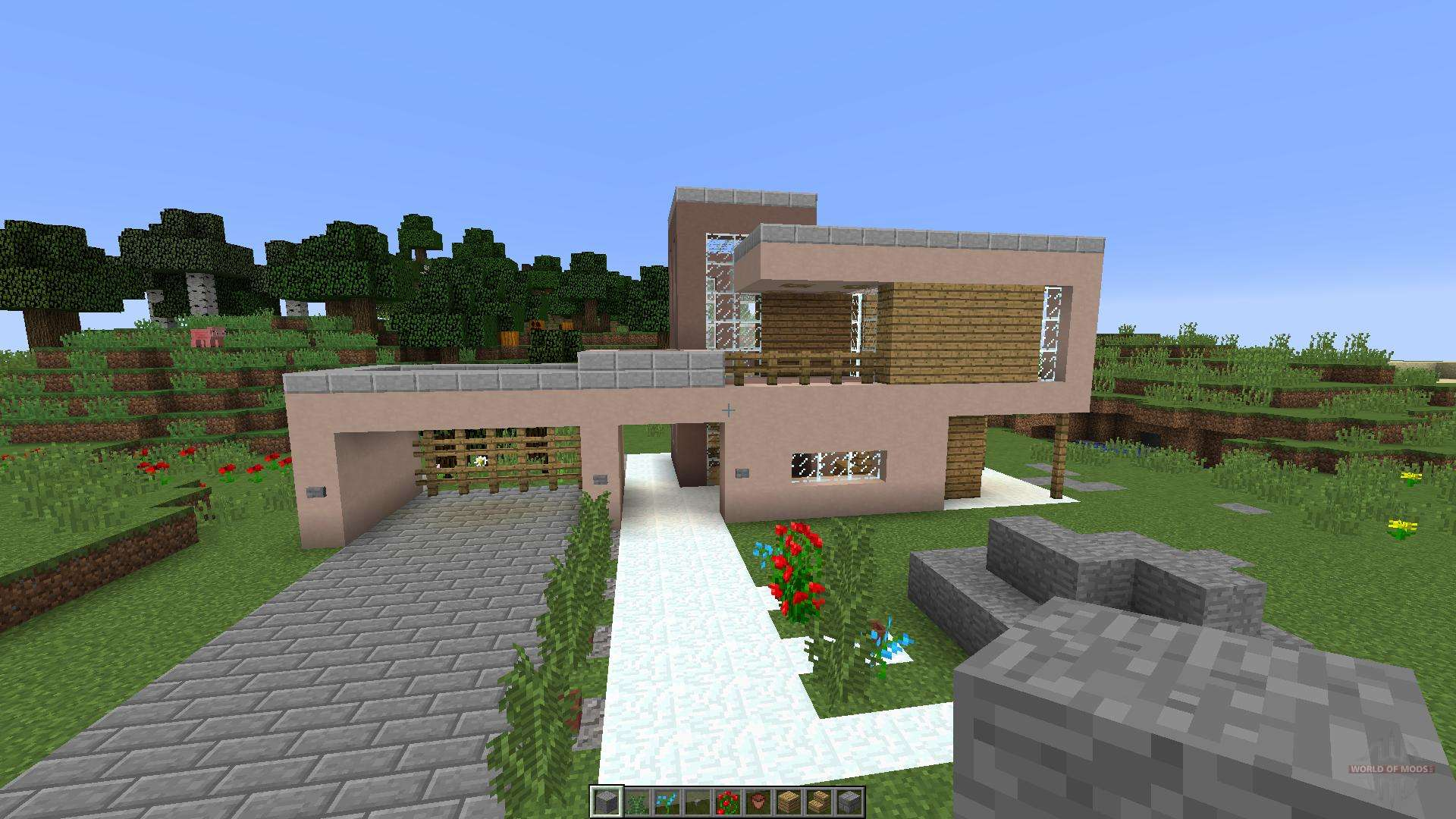 Modern house for minecraft for Modern house exterior minecraft