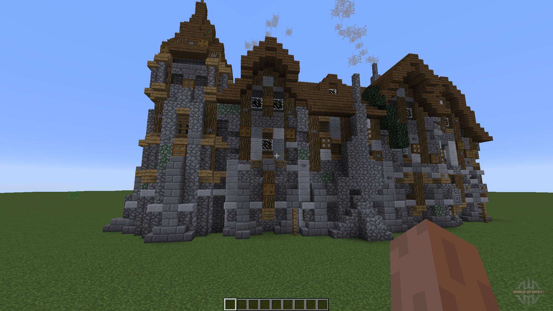 Small Cabin Blueprints A Medieval Manor For Minecraft