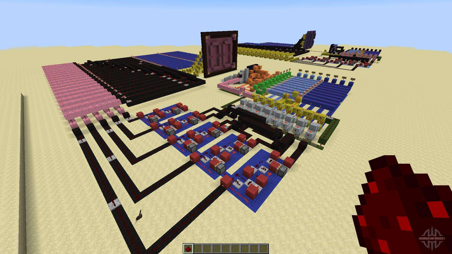 Redstone calculator and redstone digital clock for minecraft sciox Choice Image
