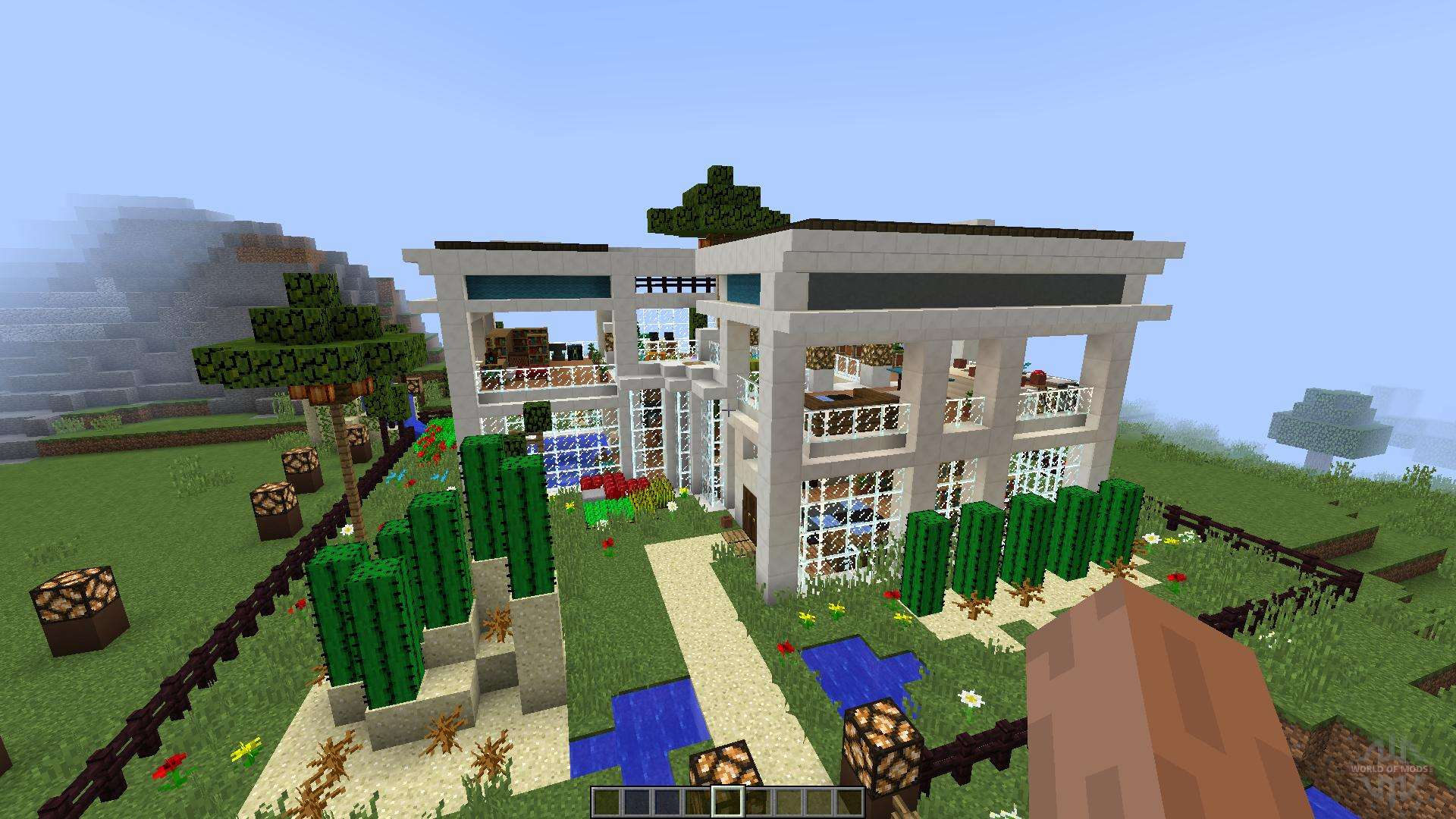 Cozy cottage luxurious modern house 1 8 1 8 8 for minecraft for Minecraft modern house download 1 8