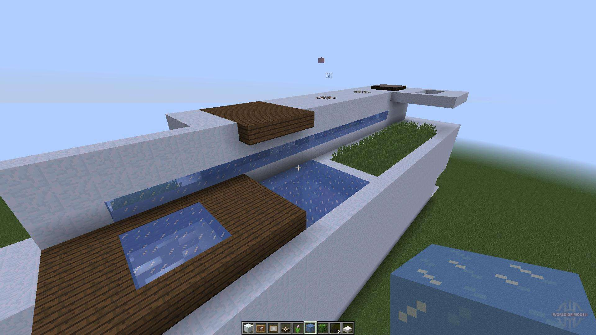 Minisize modern house 1 8 1 8 8 for minecraft for Minecraft modern house download 1 8