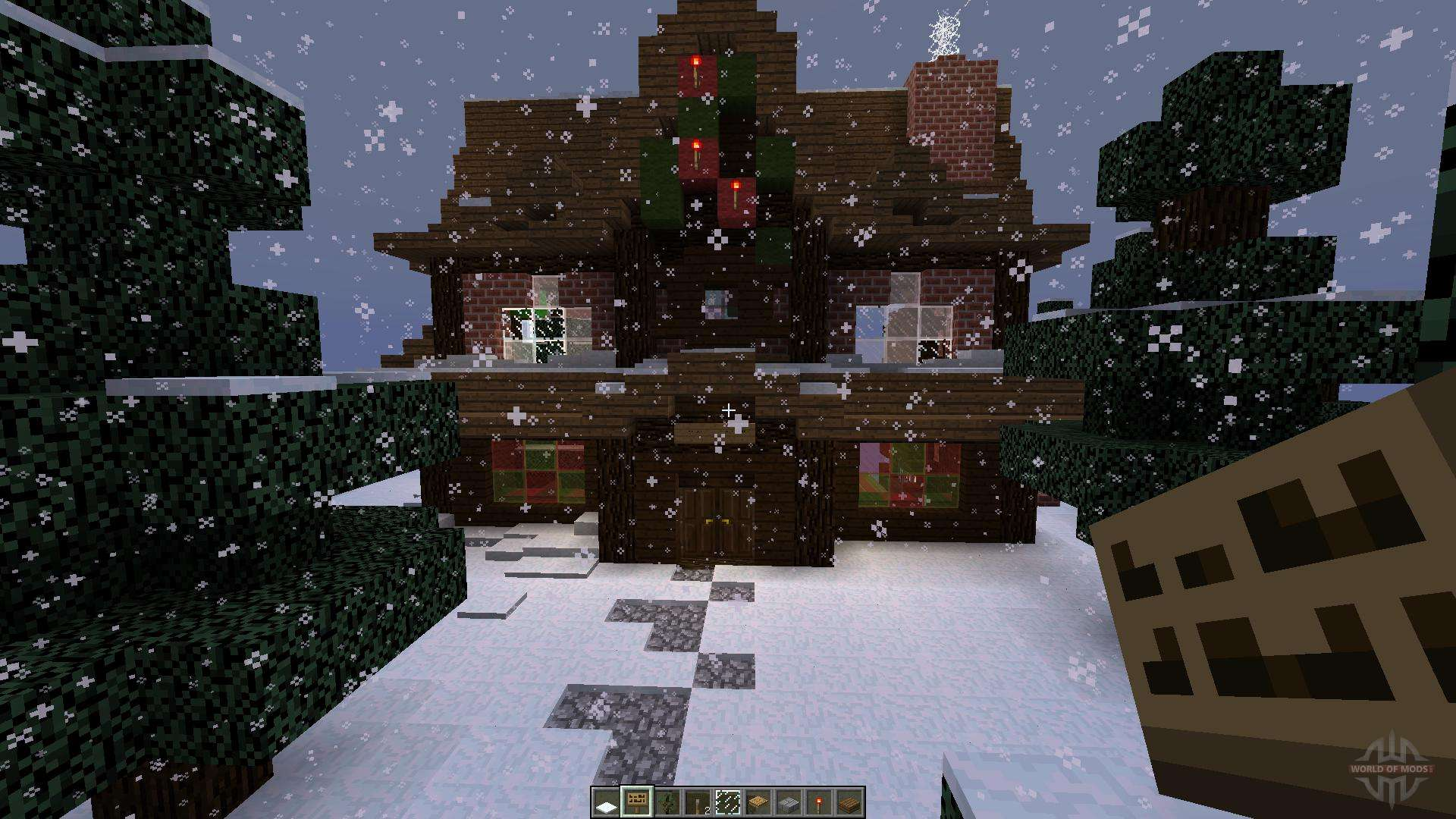 Christmas Minecraft World.Christmas Adventure Inspired Villa For Minecraft