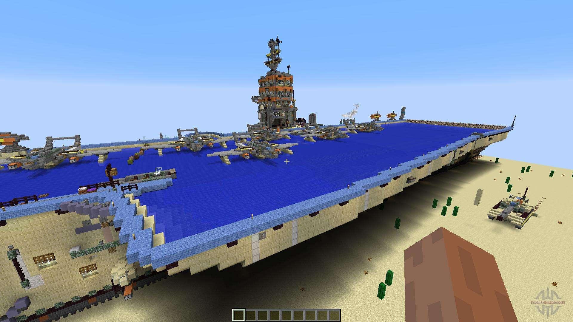 minecraft aircraft carrier map