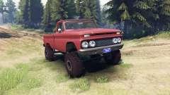 Chevrolet С-10 1966 Custom aztec bronze for Spin Tires
