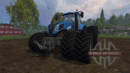 New Holland T8.320 dual wheels for Farming Simulator 2015