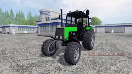 MTZ-Belarus 1025 yellow and green for Farming Simulator 2015