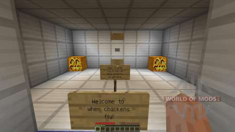 When chickens fly for Minecraft