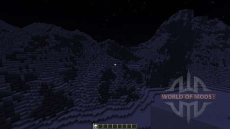 Realistic Snowy Mountains Costum Terrain for Minecraft