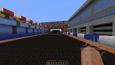 Mario Kart figure 8 circuit for Minecraft