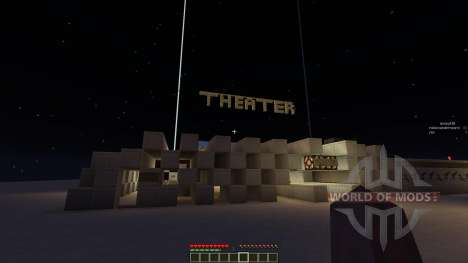 Theater House and minecart renting system for Minecraft