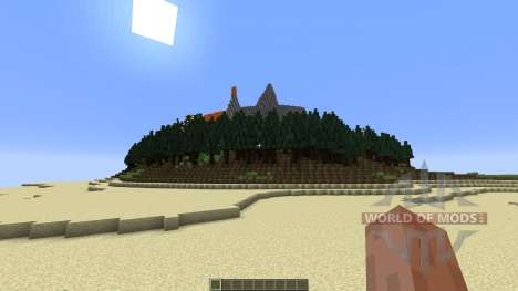 The Erupting Volcano Survival Map for Minecraft