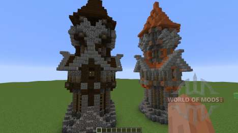 Medieval Tower Assorted Wood Variants for Minecraft