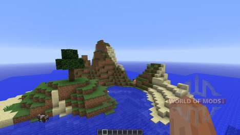 Tropical survival island for Minecraft