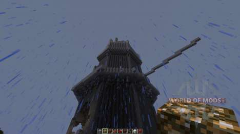 A dragon attack an old tower for Minecraft
