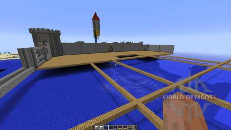 Small Giant Castle Water Base for Minecraft