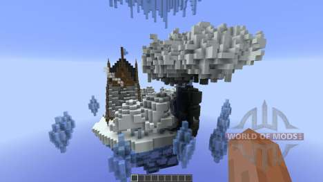 Nacreous Ice Island Concept for Minecraft