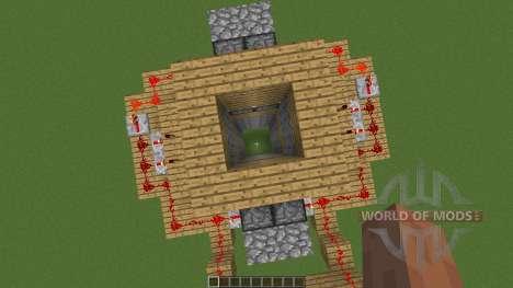 Seamless in ground piston trap for Minecraft