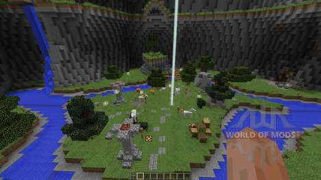 Big Closed Arena in a Dome with souterrains for Minecraft
