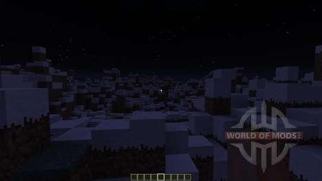 Snowy Mountain range for Minecraft