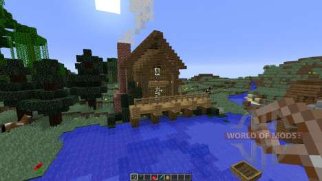 Bee Builds House on the Lake for Minecraft