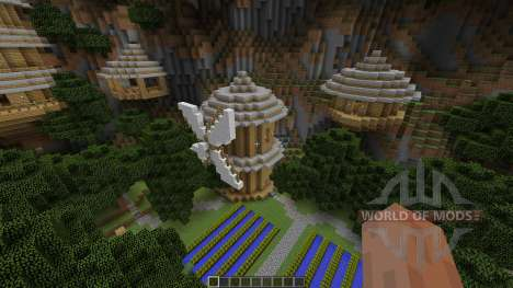 Mountain Sky Village Map for Minecraft