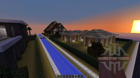 Village of Modern Houses for Minecraft