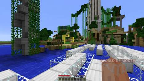 Dead town with parkour zones for Minecraft