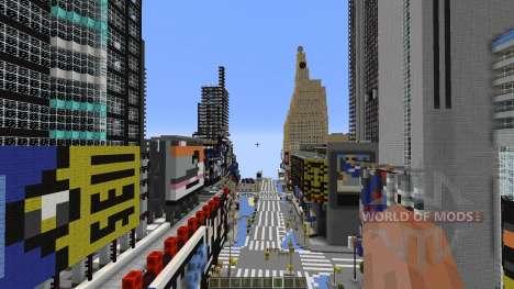 Times Square Manhattan Replica for Minecraft