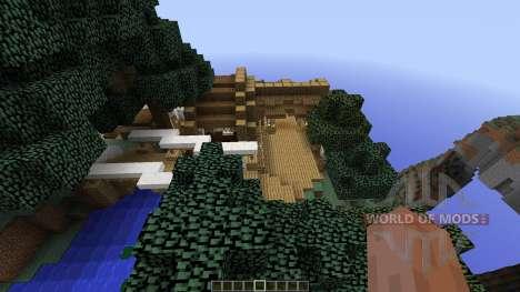 Circumflex Modern Water Mill House for Minecraft