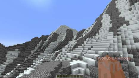 Super realistic mountain for Minecraft