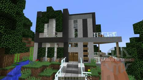 Modern Cliffside House for Minecraft